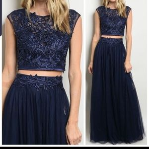 Navy two piece tulle dress